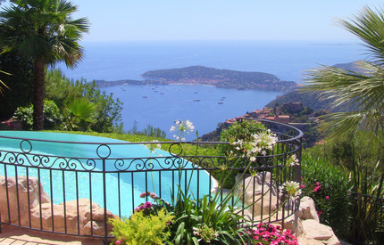 EZE : STUNNING SEA VIEW VILLA - POOL - TENNIS